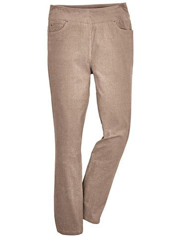 Flat-Waist Stretch Corduroy Pants - Image 2 of 2