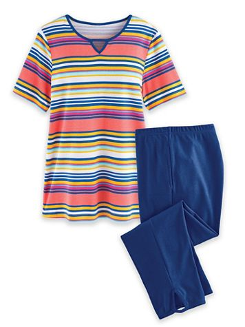 Print Knit Capri Set - Image 2 of 2