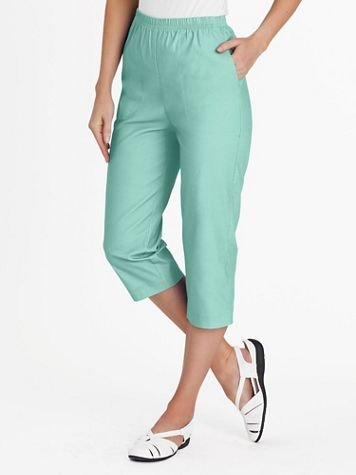 Stretch TropiCool Pull-On Capris - Image 1 of 8