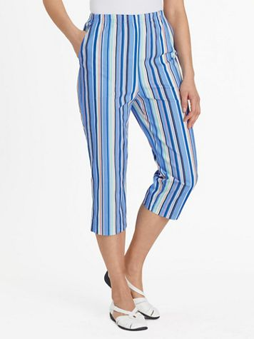Stretch TropiCool Pull-On Capris - Image 1 of 7