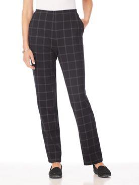 Plaid Essential Knit Pants