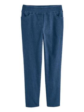 Alfred Dunner Super-Stretch Denim Pants