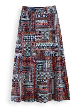 Blanket Print Knit Skirt