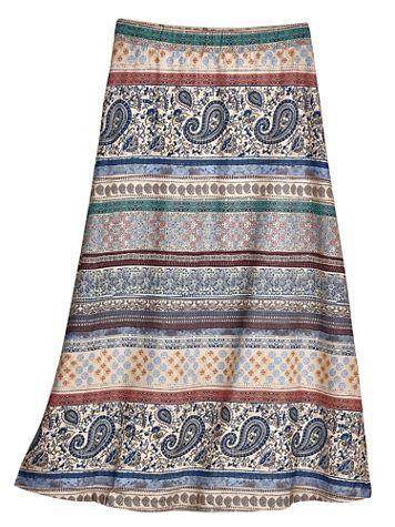 Blanket Print Knit Skirt - Image 2 of 2