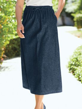 Two Twenty® Drawstring Denim Skirt