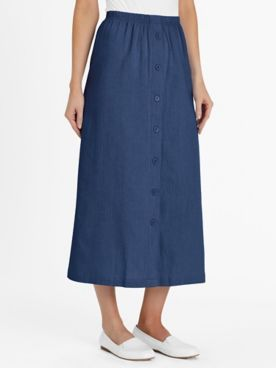 Calcutta Button-Front Skirt