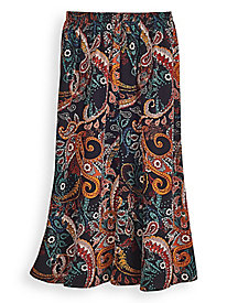 Elisabeth Williams® Print Challis Skirt