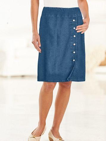 Flat-Elastic Waist Skirt - Image 1 of 5