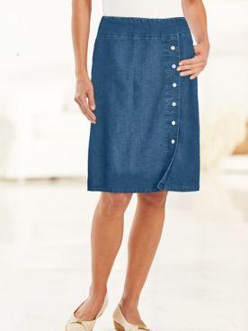 Flat-Elastic Waist Skirt