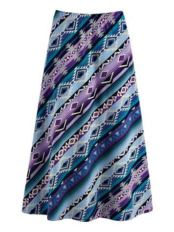 Midi-Length Print Knit Skirt - Image 2 of 2