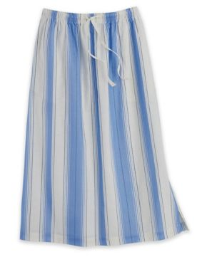 Pull-On Linen-Blend Skirt