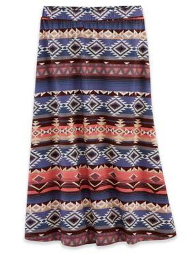 Print Knit Midi Skirt