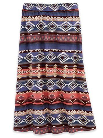 Print Knit Midi Skirt - Image 2 of 2