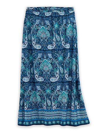 Paisley-Printed Midi Skirt - Image 2 of 2