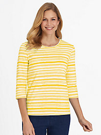 Watercolor Stripe and Solid Tees