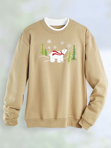 Holiday Embroidered Sweatshirt