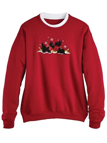 Holiday Embroidered Sweatshirt - Image 2 of 2
