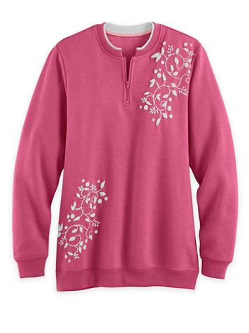Printed Fleece Pullover - Image 1 of 4
