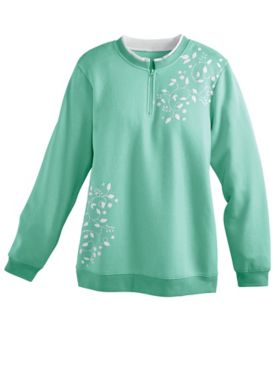 Printed Fleece Pullover