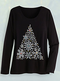 Embellished Holiday Tee