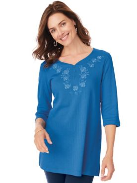 Embroidered Pointelle Tunic