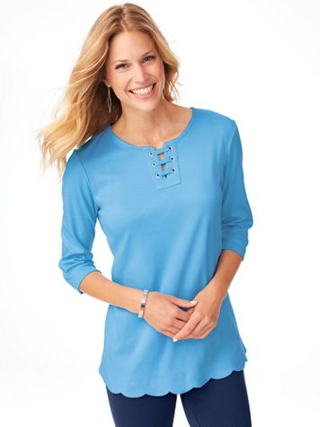 Essential Knit Scalloped-Hem Tunic  - Image 3 of 3