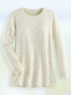 Lace Tunic Sweatshirt