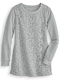 Lace Tunic Sweatshirt by Blair