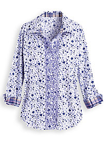 Embroidered Print Shirt by Blair