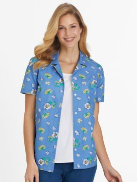 Short-Sleeve Parfait Camp Shirt