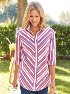 Mitered Stripe Tunic