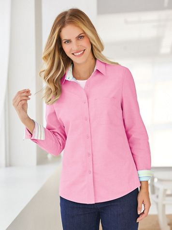 Stretch Oxford Shirt - Image 1 of 6