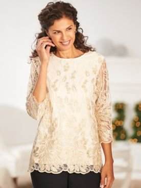 Elisabeth Williams® Lace Blouse