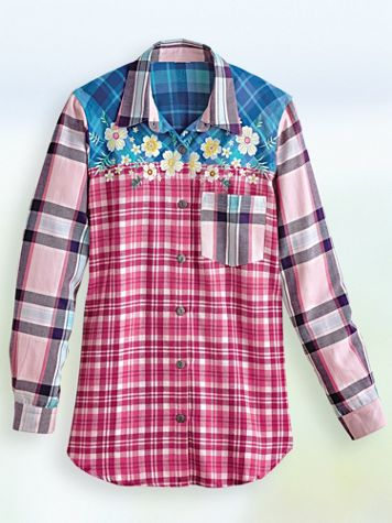 Super-Soft Embroidered Flannel Shirt - Image 2 of 2