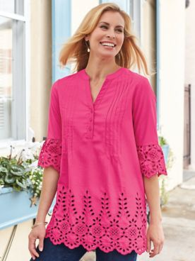 Fiesta Embroidered Eyelet Tunic