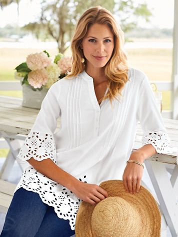 Fiesta Embroidered Eyelet Tunic - Image 3 of 3