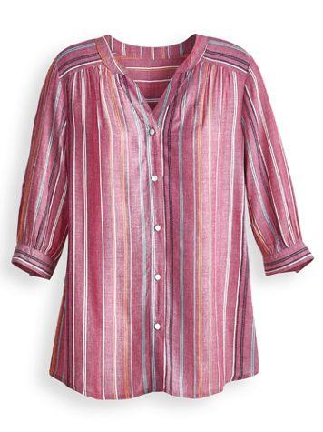 Two Twenty Dobby Striped Shirt - Image 0 of 1