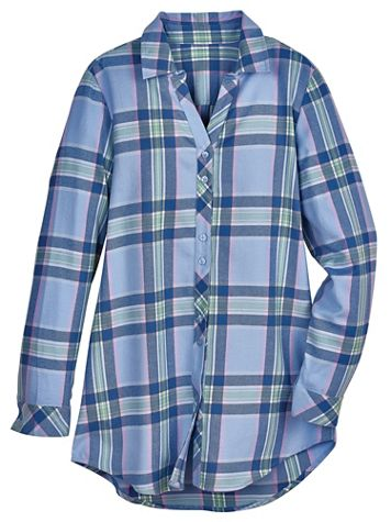 Super-Soft Flannel Tunic - Image 1 of 3