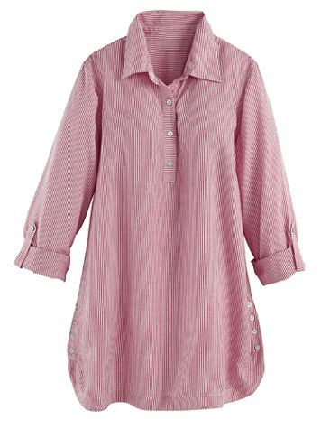 Long-Sleeve Button-Detail Tunic - Image 2 of 2
