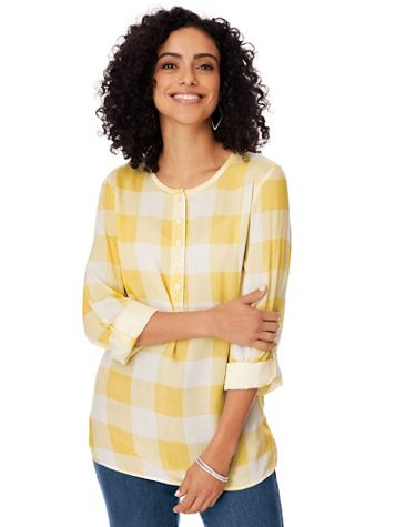 Gingham Popover Top - Image 1 of 4