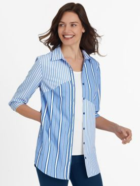 Fiesta Three-Quarter Sleeve Pocket Tunic