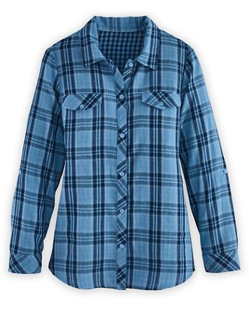 Double-Face Plaid Shirt - Image 1 of 3