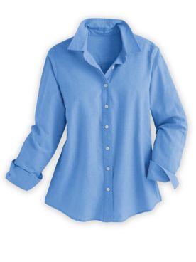 Classic Long-Sleeve Chambray Shirt