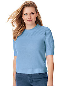 Shaker Stitch Dolman Sweater