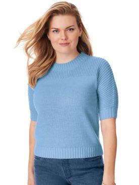 Shaker Stitch Dolman Sweater