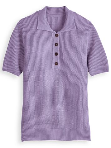 Shaker Sweater Polo - Image 2 of 2