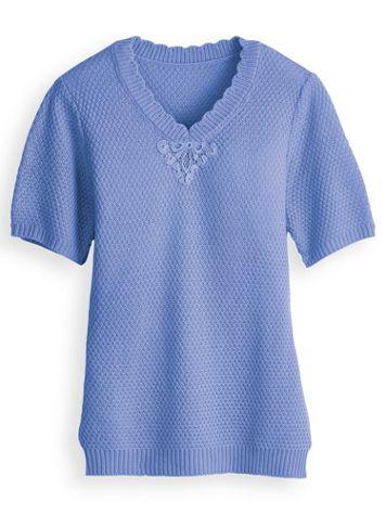 Lace Appliqué Sweater
