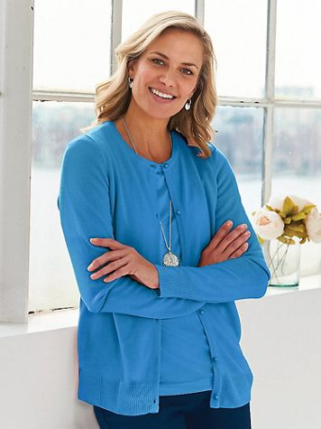 Elisabeth Williams® Cashmere-Like Cardigan - Image 1 of 6