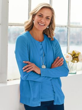 Elisabeth Williams® Cashmere-Like Cardigan