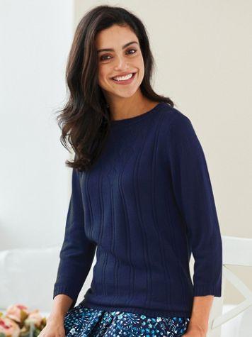 Elisabeth Williams® Pointelle Sweater - Image 1 of 1